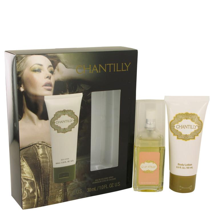 CHANTILLY by Dana Gift Set -- 1 oz Eau De Cologne Spray + 2 oz Body Lotion for Women