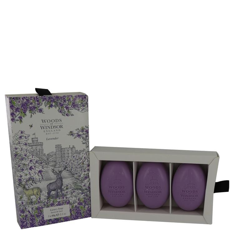 Lavender by Woods of Windsor Fine English Soap 3 x 2.1 oz for Women - Oliavery
