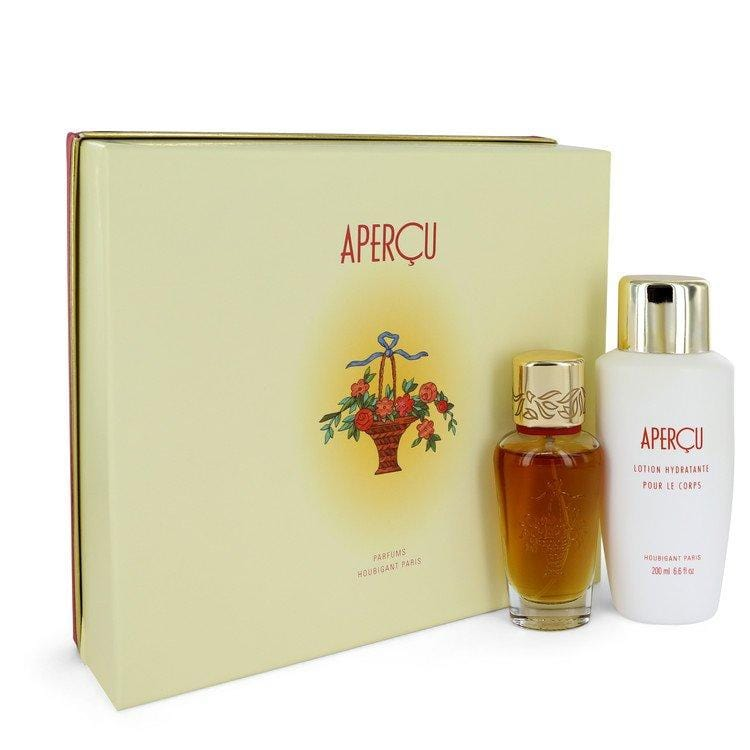 APERCU by Houbigant Gift Set -- 1.7 oz Eau De Toilette Spray + 6.7 oz Body Lotion for Women - Oliavery