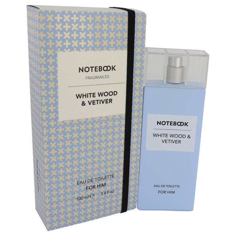 Notebook White Wood & Vetiver by Selectiva SPA Eau De Toilette Spray 3.4 oz for Men - Oliavery