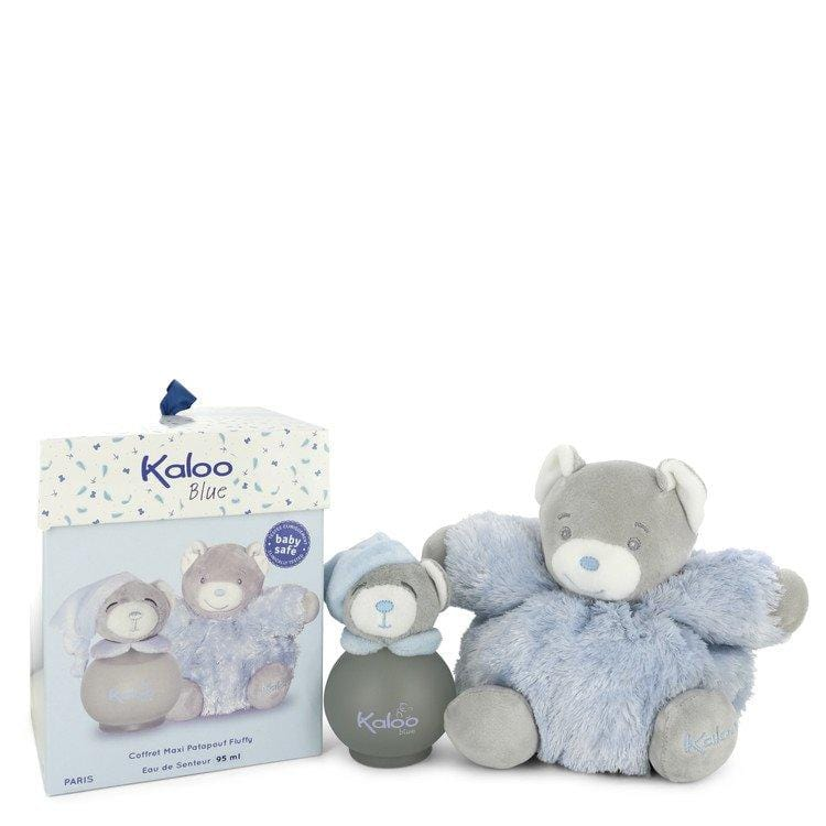 Kaloo Blue by Kaloo Eau De Senteur Spray (Alcohol Free) + Free Fluffy Bear 3.2 oz for Men - Oliavery