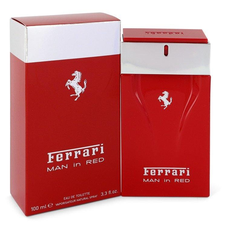 Ferrari Man In Red by Ferrari Eau De Toilette Spray 3.4 oz for Men - Oliavery