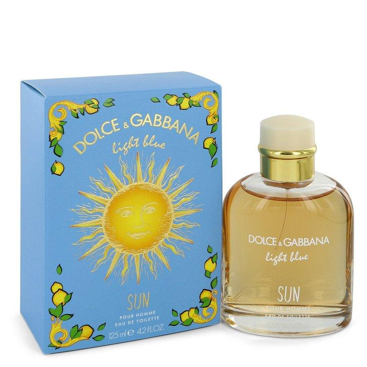 Light Blue Sun by Dolce & Gabbana Eau De Toilette Spray 4.2 oz for Men - Oliavery