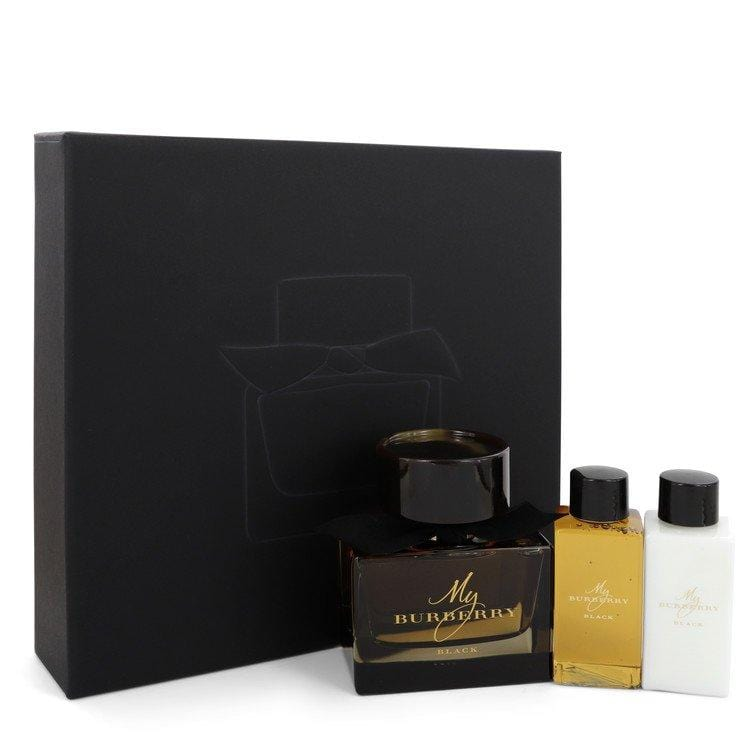 My Burberry Black by Burberry Gift Set -- 3 oz Eau De Parfum Spray + 2.5 oz Body Lotion + 2.5 oz Shower Gel for Women - Oliavery