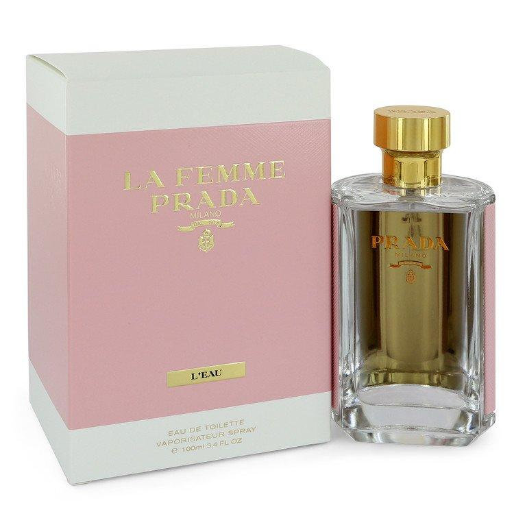 Prada La Femme L'eau by Prada Eau De Toilette Spray 3.4 oz for Women - Oliavery
