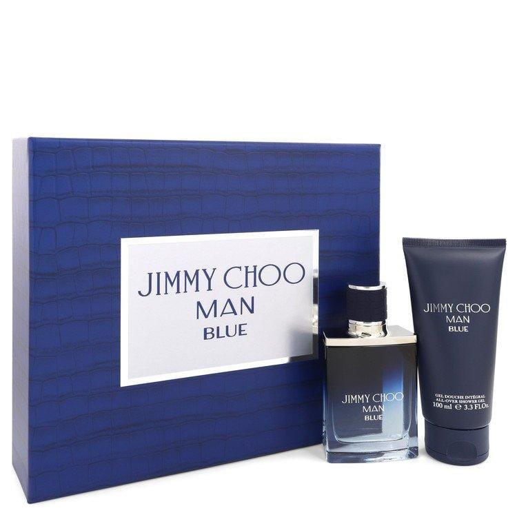Jimmy Choo Man Blue by Jimmy Choo Gift Set -- 1.7 oz Eau De Toilette Spray + 3.3 oz Shower Gel for Men - Oliavery
