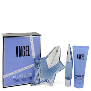 ANGEL by Thierry Mugler Gift Set -- 1.7 oz Eau De Parfum Spray Refillable + 0.3 oz Mini EDP Purse Spray + 1.7 oz Shower Gel for Women - Oliavery