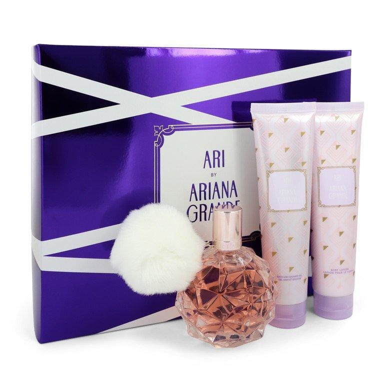 Ari by Ariana Grande Gift Set -- 3.4 oz Eau De Parfum Spray + 3.4 oz Body Lotion + 3.4 oz  Shower Gel for Women - Oliavery