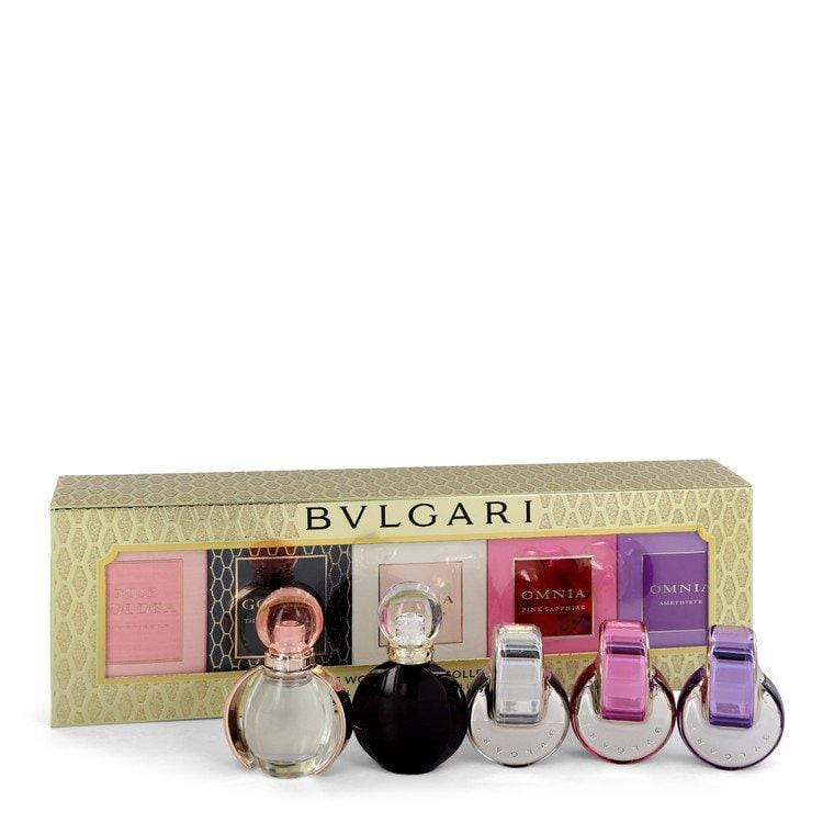 Omnia by Bvlgari Gift Set -- Women's Gift Collection Includes Goldea The Roman Night, Rose Goldea, Omnia, Omnia Pink Sapphire and Omnia Amethyste for Women - Oliavery