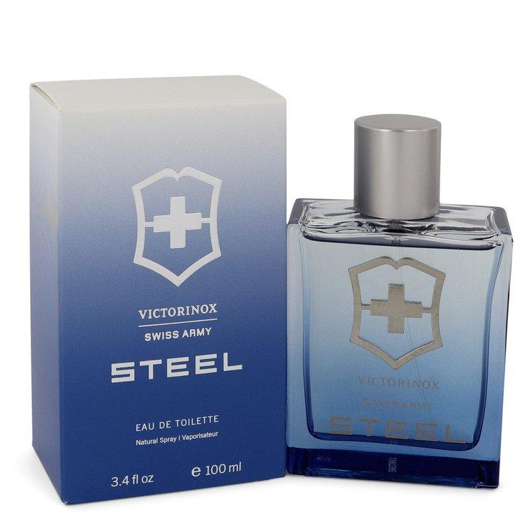 Swiss Army Steel by Swiss Army Eau De Toilette Spray 3.4 oz for Men - Oliavery