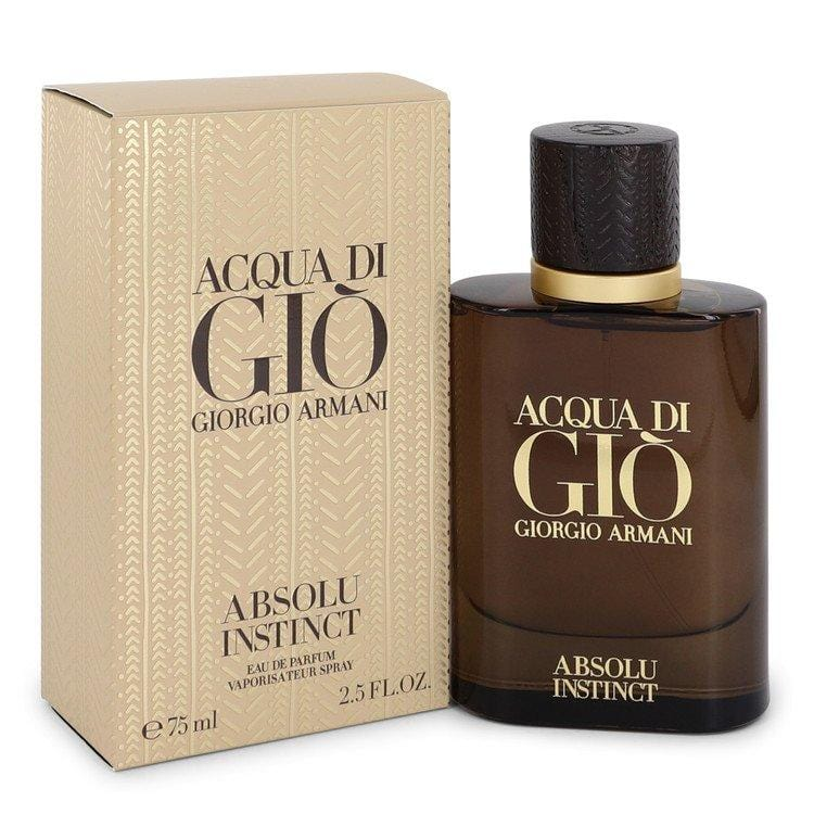 Acqua Di Gio Absolu Instinct by Giorgio Armani Eau De Parfum Spray 2.5 oz for Men - Oliavery
