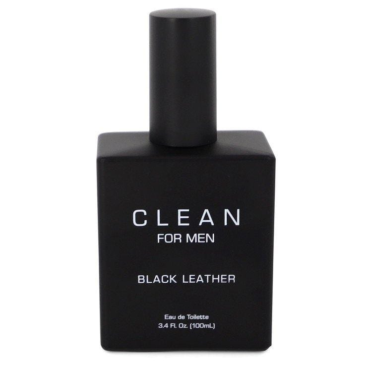 Clean Black Leather by Clean Eau De Toilette Spray (unboxed) 3.4 oz  for Men