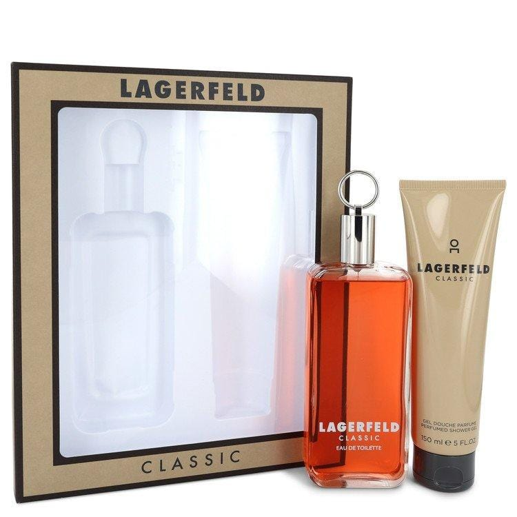 LAGERFELD by Karl Lagerfeld Gift Set -- 5 oz Eau De Toilette pray + 5 oz Shower Gel for Men - Oliavery