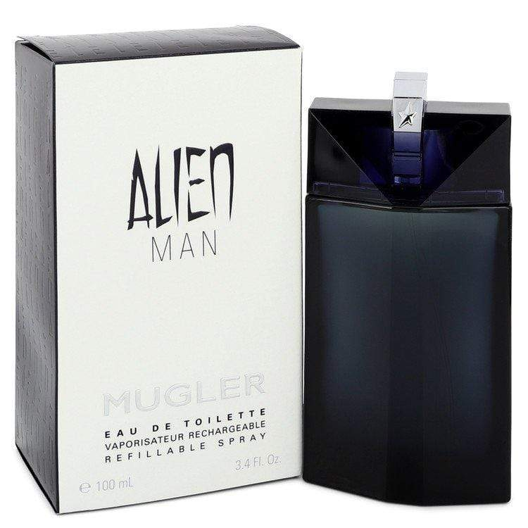 Alien Man by Thierry Mugler Eau De Toilette Refillable Spray (unboxed) 3.4 oz  for Men - Oliavery