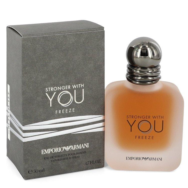 Stronger with You Freeze by Emporio Armani Eau De Toilette Spray for Men - Oliavery