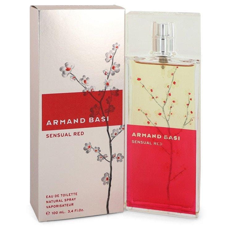 Armand Basi Sensual Red by Armand Basi Eau De Toilette Spray 3.4 oz for Women - Oliavery