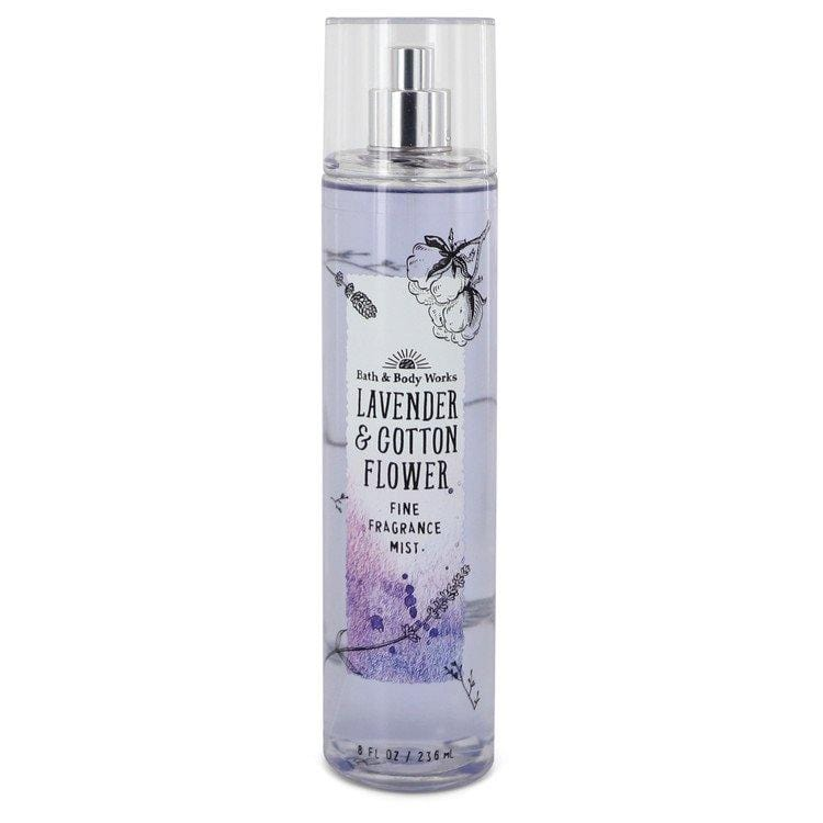 Bath & Body Works Lavender & Cotton Flower by Bath & Body Works Fine Fragrance Mist 8 oz for Women - Oliavery