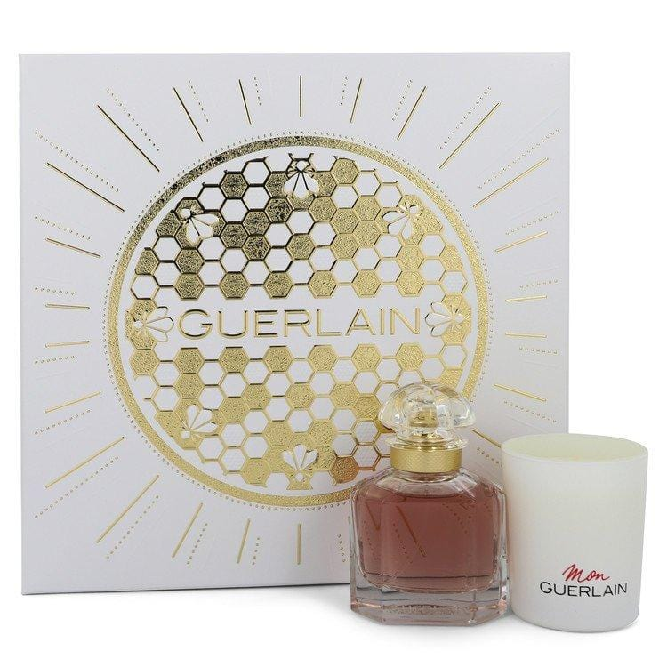 Mon Guerlain by Guerlain Gift Set -- 1.6 oz Eau De Parfum Spray + 2.6 oz Scented Candle for Women - Oliavery