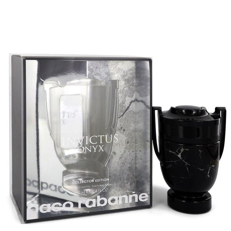 Invictus Onyx by Paco Rabanne Eau De Toilette Spray Collector Edition 3.4 oz for Men - Oliavery