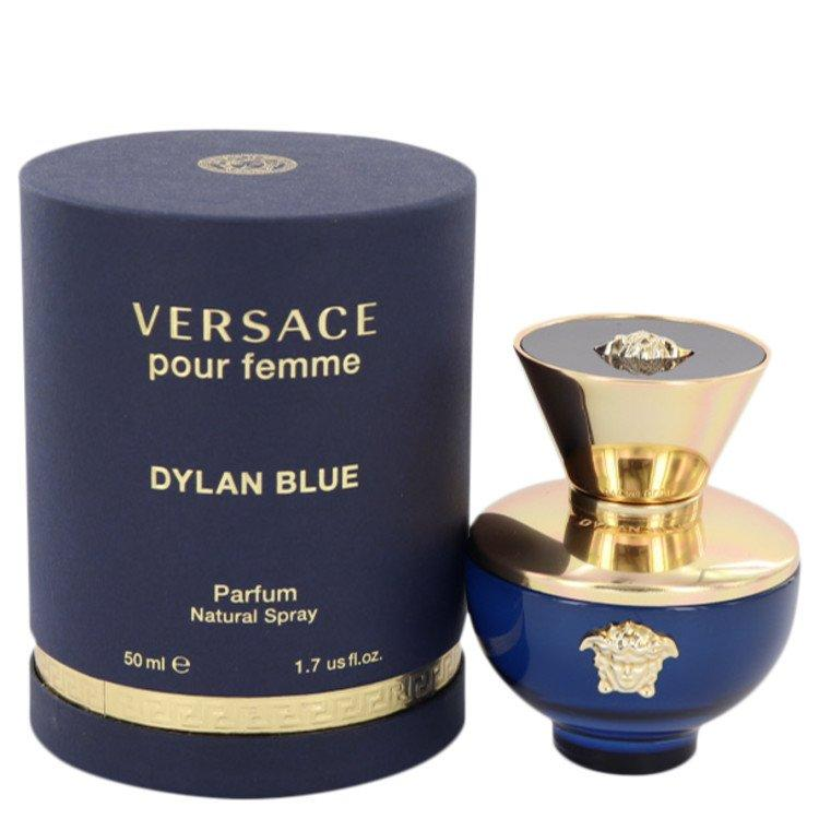 Versace Pour Femme Dylan Blue by Versace Gift Set -- 0.17 oz Mini EDP + 0.8 oz Body Lotion + 0.8 oz Shower Gel for Women