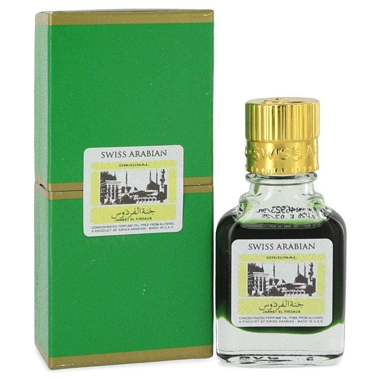 Jannet El Firdaus by Swiss Arabian Concentrated Perfume Oil Free From Alcohol (Unisex Green Attar) .30 oz for Men - Oliavery