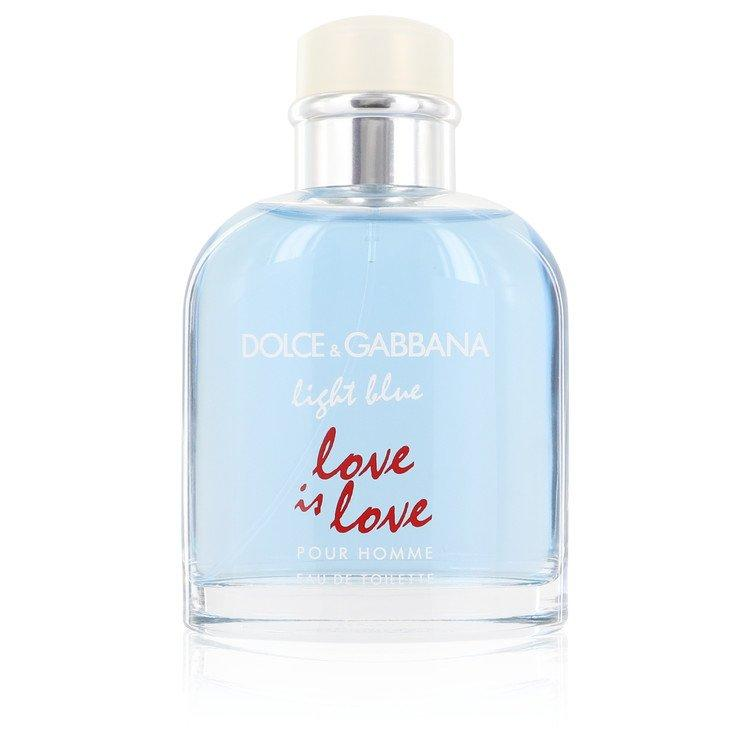 Light Blue Love Is Love by Dolce & Gabbana Eau De Toilette Spray (unboxed) 4.2 oz for Men