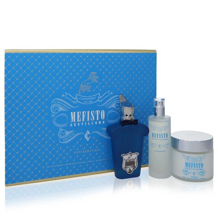 Mefisto Gentiluomo by Xerjoff Gift Set -- 3.4 oz Eau De Parfum Spray + 3.4 oz Deodorant Spray + 6.7 oz Shave and Post Shave Cream for Men - Oliavery