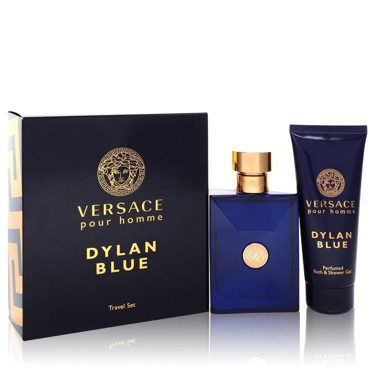 Versace Pour Homme Dylan Blue by Versace Gift Set -- 3.4 oz Eau de Toilette Spray + 3.4 oz Shower Gel for Men