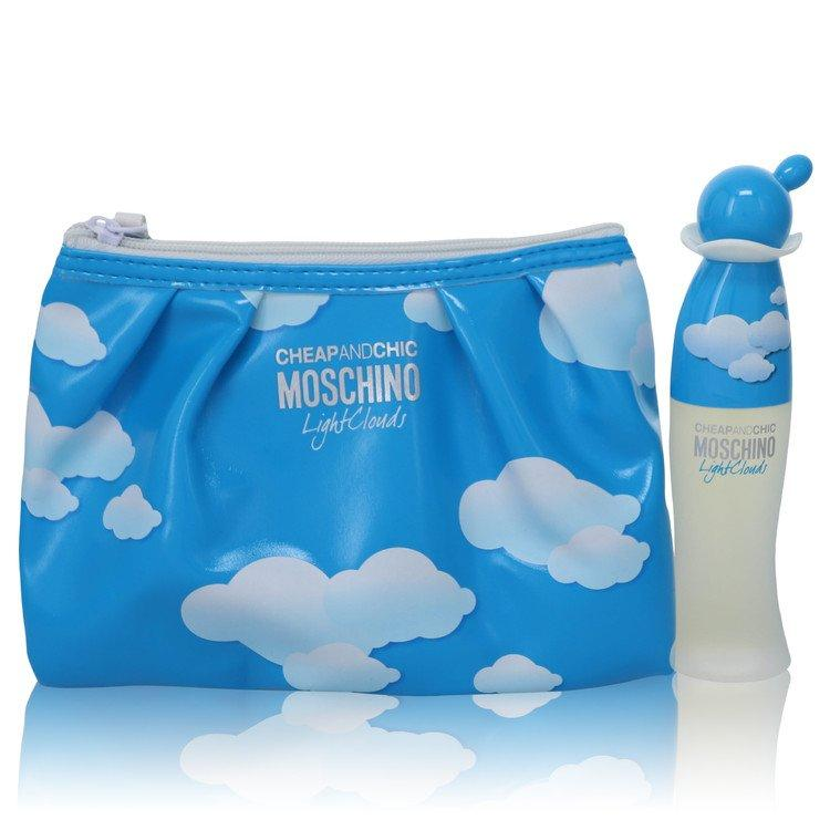 Cheap & Chic Light Clouds by Moschino Gift Set -- 1.7 oz Eau De Toilette Spray with Free Cosmetic Pouch for Women - Oliavery