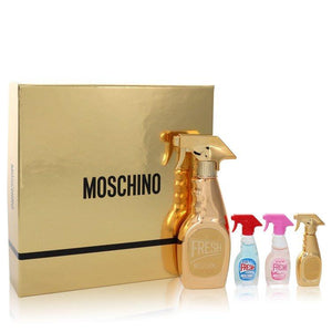Moschino Fresh Couture by Moschino Gift Set -- 3.3 oz EDP Spray in Moschino Fresh Gold Couture + 1.7 oz EDP Spray in Moschino Fresh Gold Couture + 1.7 oz EDT Spray in Moschino Fresh + 1.7 oz EDT Spray in Moschino Fresh Pink for Women - Oliavery
