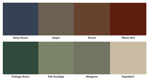 colorbond earth colours