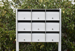 shale grey letterbox