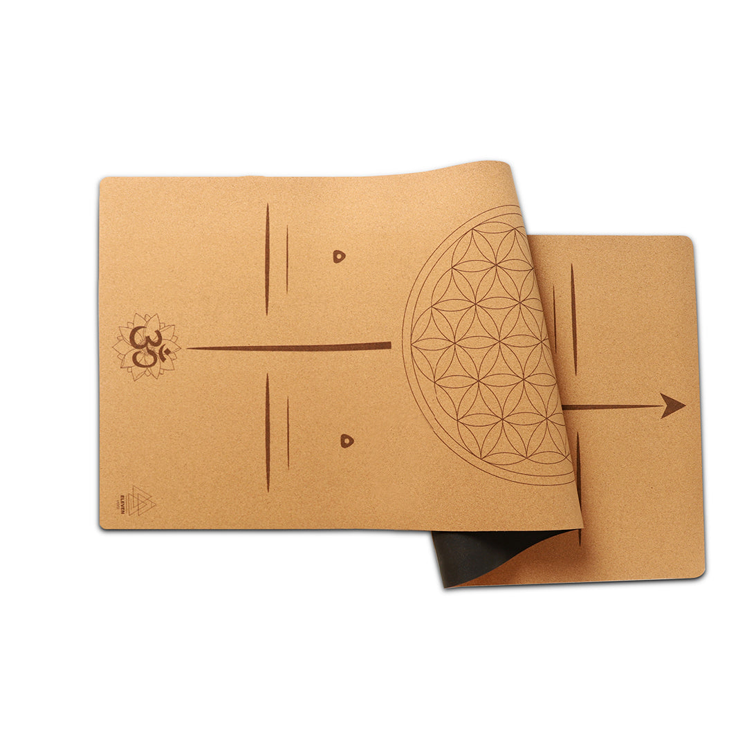 Flower of Life with the word Certainty Yoga Mat | Cork
