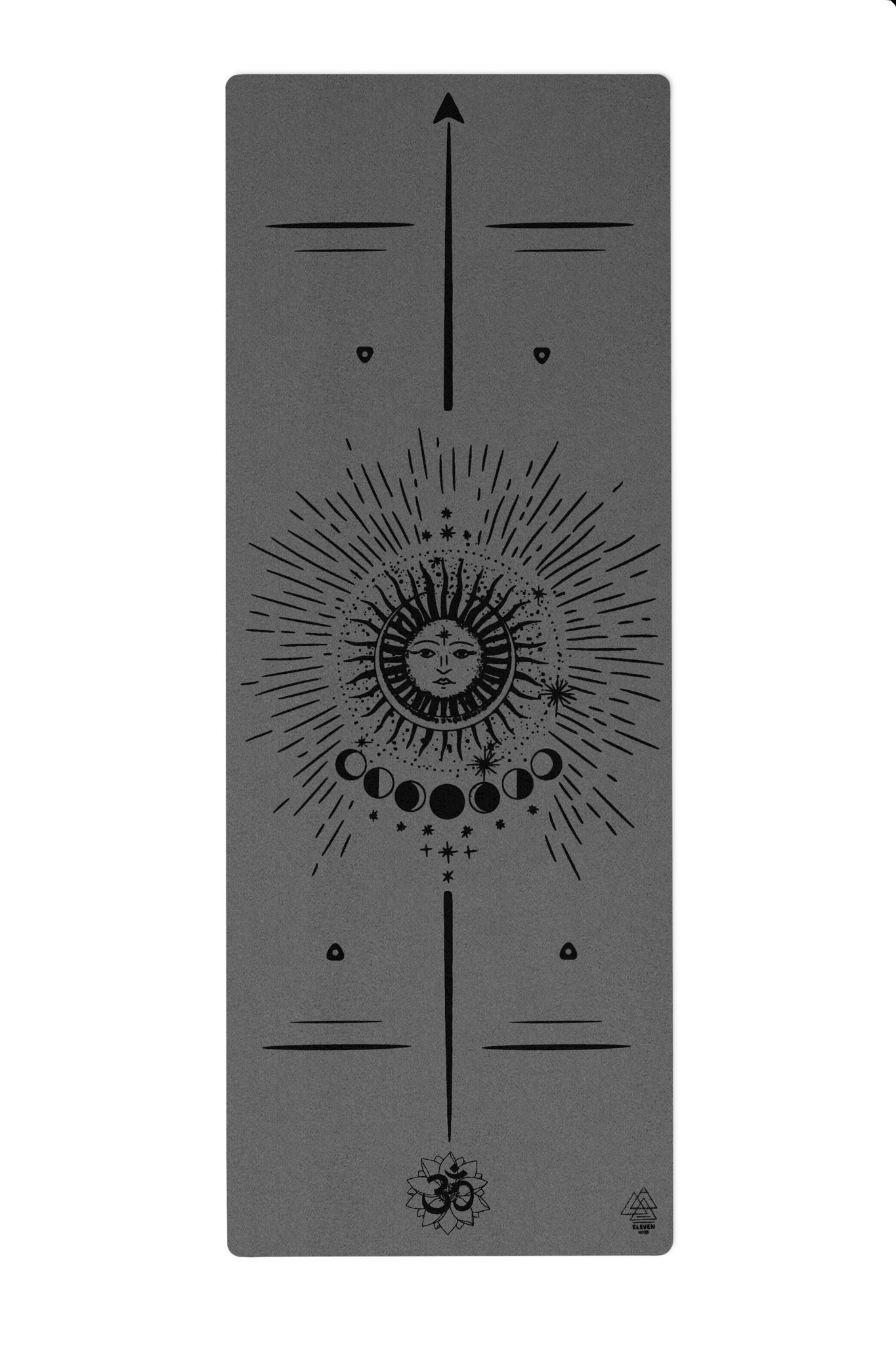 Lunar Phases Yoga Mat | Black