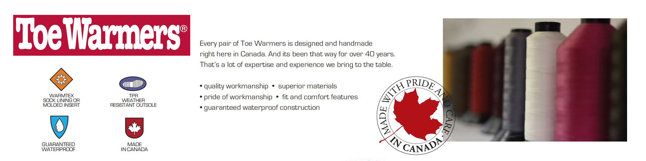 Toe Warmers Collection Banner