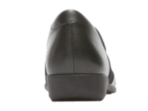 A covered leather heel helps deter unseeingly marks and scratches.