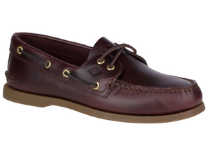 Amaretto coloured leather top sider from Sperry.  The deck shoe everyone loves.