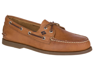 Sahara light brown coloured leather top sider from Sperry. The deck shoe everyone loves.
