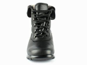 This front view of the boot allows you to see the lace up system and how it can secure your foot easily into the boot.