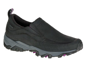 Ladies snow shoe that will keep your foot dry and warm.  Black leather upper with aggressive sole for great traction on snow and ice.