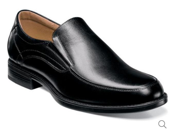 Midtown Moc Toe Slip On Black by FLORSHEIM
