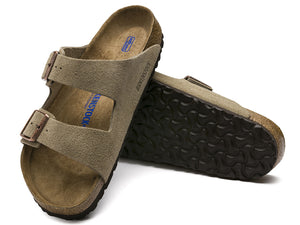 Arizona Soft Suede Taupe by BIRKENSTOCK
