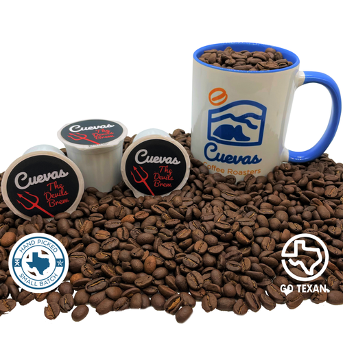The Devil's Brew K-Cups comes from our Single Origin Colombia Coffee Offering. We increase the roast level to a dark roast to bring you a full body and unique flavor profile for a strong and bold cup to start your morning!
