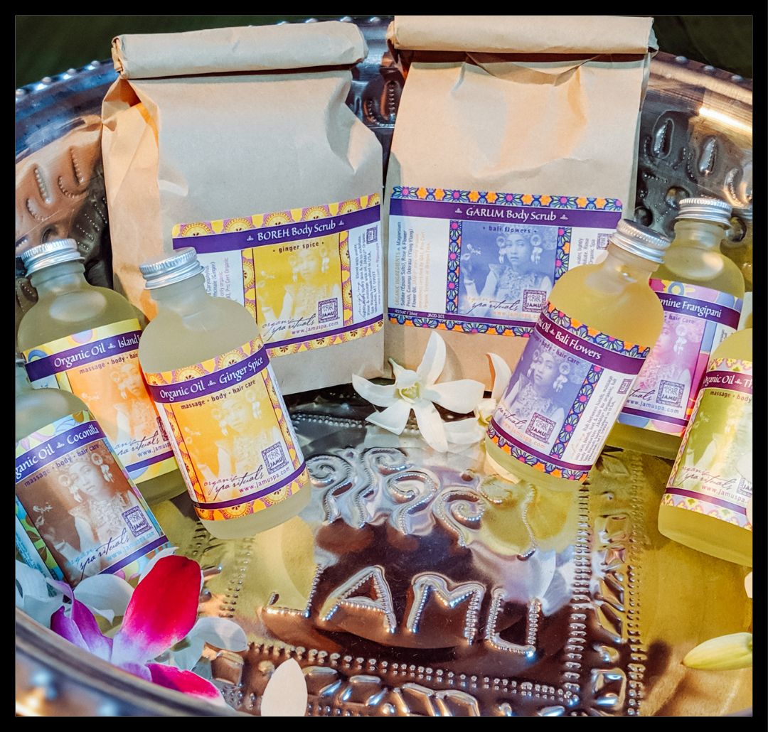 Bali Spa Experience Package - JAMU Organic Spa Rituals - balinese massage, organic body products, health and wellness