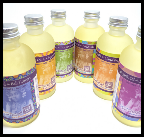 Organic Massage, Body, Bath & Hair Oils