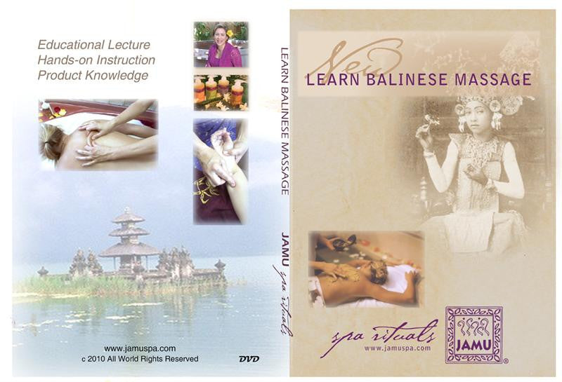 Balinese Massage DVD - JAMU Organic Spa Rituals - balinese massage, organic body products, health and wellness