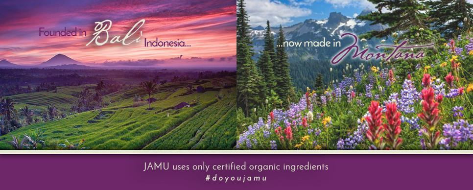 JAMU founded in Bali, Indonesia, now made in Montana USA
