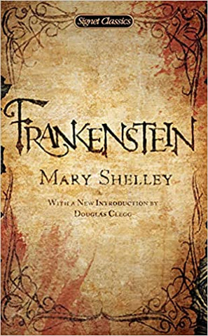 frankenstein book cover by mary shelley