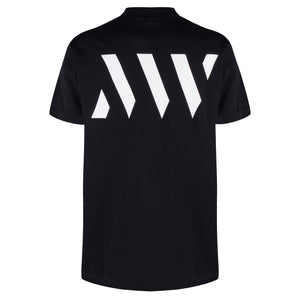 MAURICE WEST LOGO-PRINT T-SHIRT BLACK