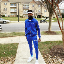 Load image into Gallery viewer, Royal Blue Nipsey Adult  Unisex YFF  ( Young Fly Fla$hy ) Tracksuit Pants